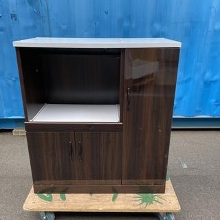 ミドルレンジボード レンジ台 食器棚 茶 収納棚 組立家具 中古品