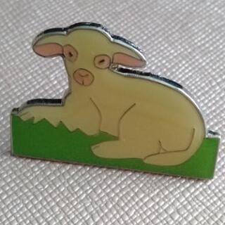 ピンバッチ 子羊 ニュージーランドで購入