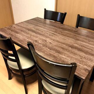 リビング・ダイニングテーブルセット(椅子4脚)【物々交換】