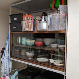 無印良品 スチール ユニットシェルフ 食器棚付き