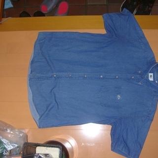 ボタンダウンタイプの半袖タイプのメンズシャツです。