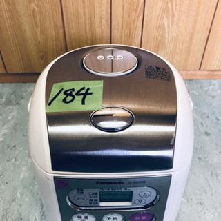 184番 Panasonic✨電子ジャー炊飯器✨SR-MZ05E8‼️