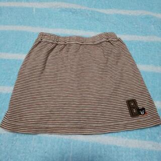 59:ミキハウス(90)ダブルビースカート