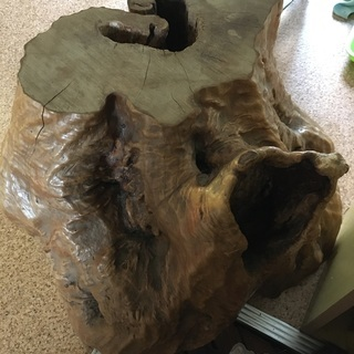 天然木の置物・椅子
