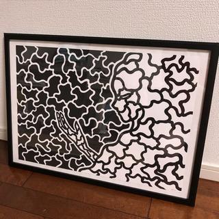 抽象画 絵画 モダンアート ポスター A2サイズ