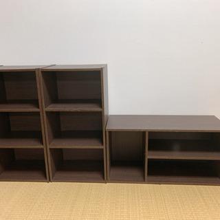 カラボックス 本棚 テレビ台 収納ボックス 3段 ブラウン