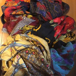 スカーフ6枚未使用、ほつれあり色々