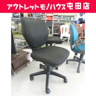 SANWA SUPPLY オフィスチェア 昇降 キャスター ブラ...