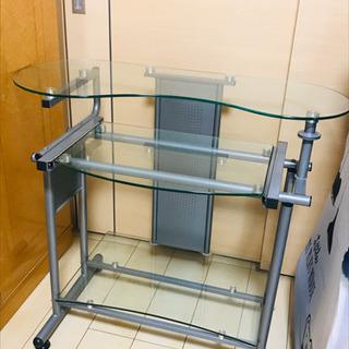 PCラック パソコンラック ガラス