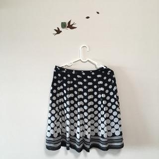 水玉スカート紺色 Lサイズ