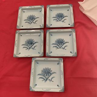 未使用品 昭和レトロ 銘々皿 5枚 未使用 アンティーク