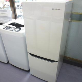 美品 2ドア冷蔵庫 150リットル 2018年製 ハイセンス H...