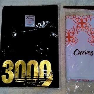 ★新品レア!!「カーブス」3,000回来店記念の特別Tシャツ(M...