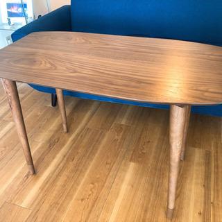 【テーブル】テーブル、ウォルナット、高さ調節可能