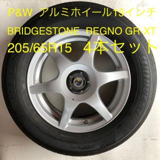 P&W 15インチ アルミホイール&サマータイヤ4本セット