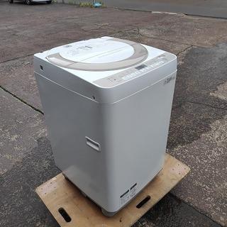 シャープ 全自動洗濯機 ES-KS70R-N『良品中古』2016...