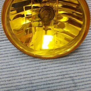 ☆値下げ☆ 新品未使用ヘッドライト及びユニット 8インチ黄色  ...