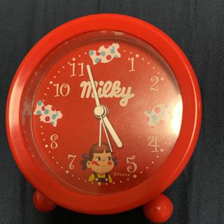 ❁新品❁ 不二家 ペコちゃん ミルキーロック 目覚まし時計 置時計