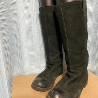 本革スエード ブーツ 24cm