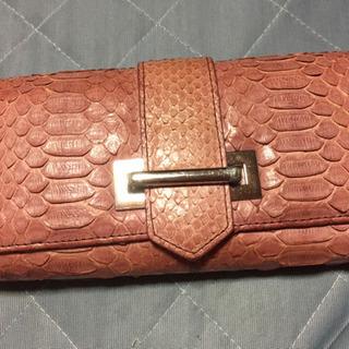 パイソンピンク財布
