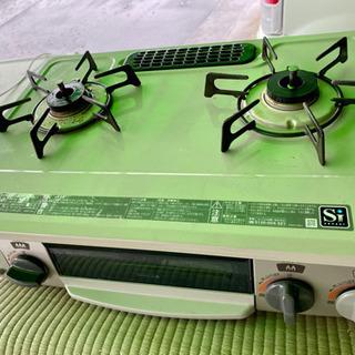 ガステーブル リンナイ 水なし片面焼き 都市ガス13A 左強火 ...