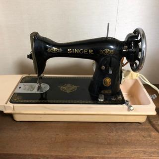 ミシン SINGER 15U 工業用 本縫い ケース付