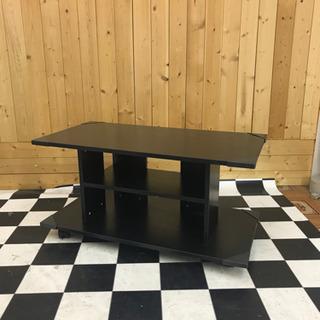 キャスター付きテレビボード 800×400×415 ブラック 移...