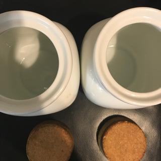 *陶器のsugar&salt容器コルク蓋*
