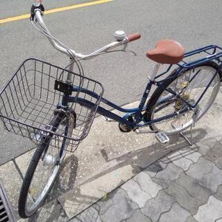 ♪ジモティー特価♪おしゃれなパイプキャリア付き26型中古自転車 ...