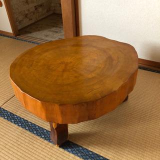 お取引中です!重量感ある高級木製テーブル