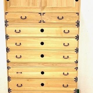 桐箪笥 和風家具 着物収納 和箪笥 伝統工芸 高さ157cm
