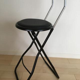 開封のみ ブラック 折りたたみ椅子3脚セット