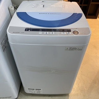 洗濯機 シャープ SHARP ES-GE55P 2015年製 5...