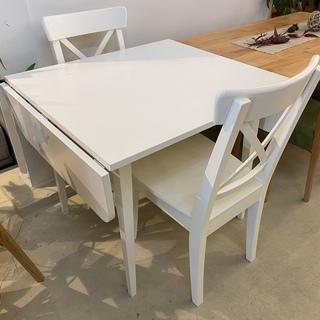 IKEA イケア ダイニングテーブルセット 伸長式 テーブル チ...