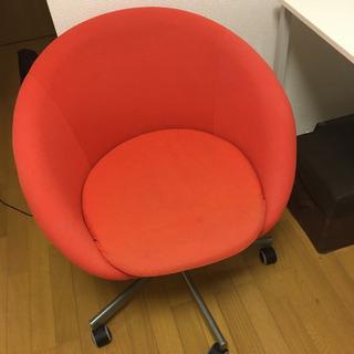 IKEA スクルーヴスタ 回転チェア 廃盤カラー 赤
