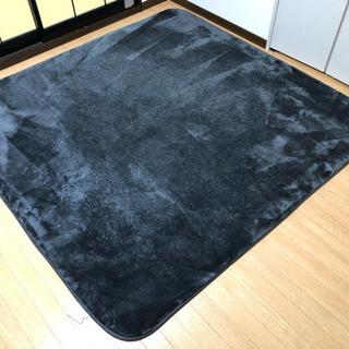 ニトリのカーペット185×185cm(ブルーグレー)