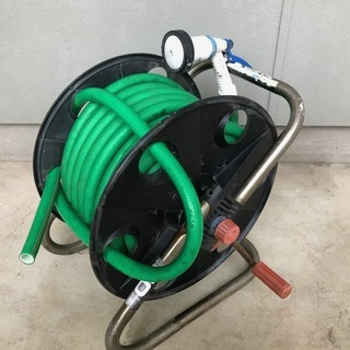 ホースリール 20m シャワー 屋外 園芸 庭 洗車 掃除