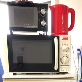 キッチン家電セット! 電子レンジ,トースター,湯沸かしポット