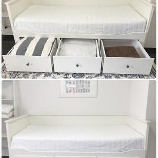 IKEA HEMNES ヘムネス ソファーベッド(引き出し×3)...
