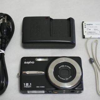 売約済【デジカメ】SANYO DSC-X1260 ブラック (動...