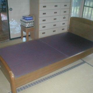 木製シングルベッド差し上げます
