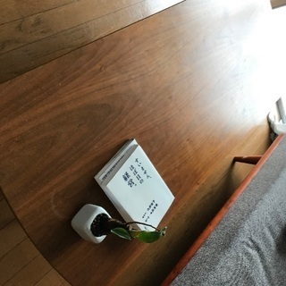 ウォールナットのローテーブル カフェ風