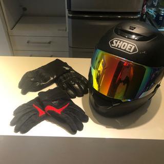 SHOEI QWEST ヘルメット+ 手袋×2
