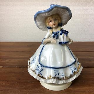 陶器人形 オルゴール ラブストーリー