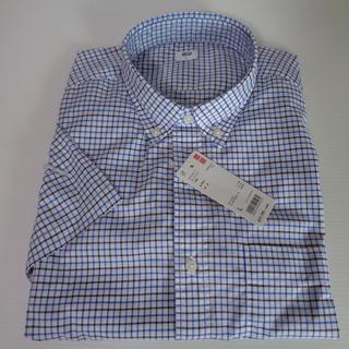 ☆★未使用品 ユニクロ 半袖 チェックシャツ サイズ:L 半額