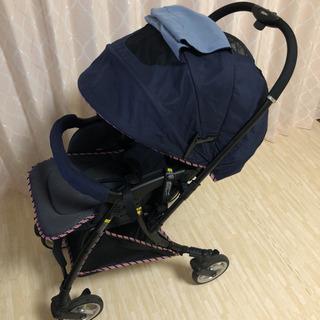 【美品】ピジョン ランフィ ベビーカー トラッドネイビー