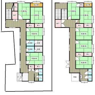 新潟県柏崎市石地海水浴場、売り季節旅館、借地権譲渡です。建物は登...