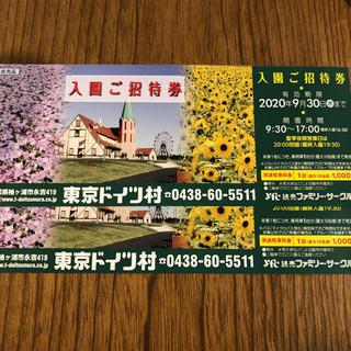 東京ドイツ村チケット二枚
