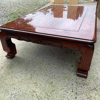 木目調テーブル