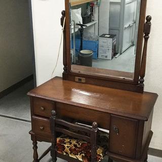 差し上げます!ドレッサー 椅子付き 化粧台 鏡台 鏡